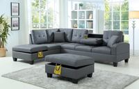 Brand new grey leather sectional sofa with ottoman Silver Spring, 20902