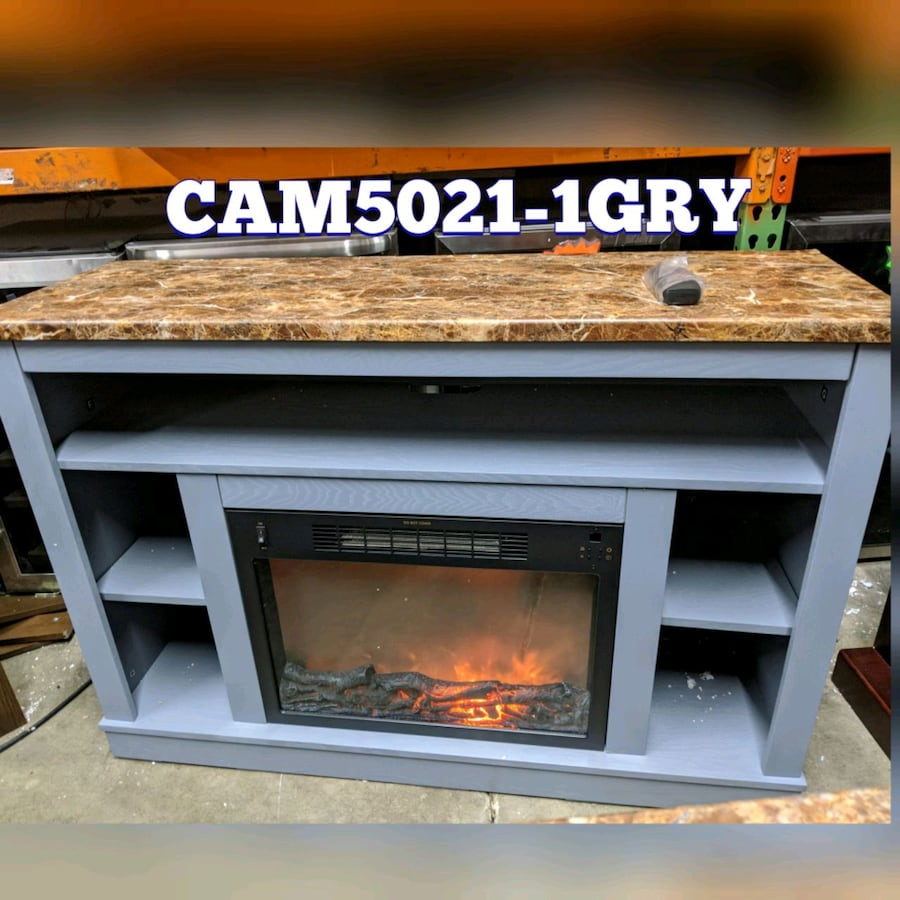 Electric heater fireplace with furniture