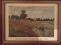 The Corn Poppies by Claude Monet painting with black wooden frame London, SW10 0FA