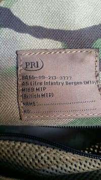 Pri 45 litre infantry Bergen bag Houston, 77041