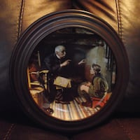 """""""THE VETERAN"""" BY NORMAN ROCKWELL COLLECTOR PLATE Hanover"""