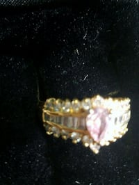 gold-colored ring with clear gemstones Dale City