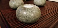 BLOWOUT !!! 3 polished Jade Candle Holders Chilliwack