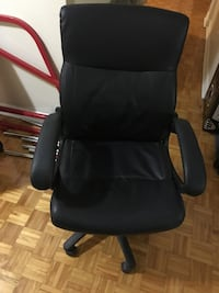 Black leather office chair  Montréal, H3T 1M2