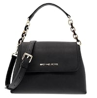 MK PORTIA SMALL SAFFIANO BLACK LEATHER SATCHEL Burnaby, V5H 4P6