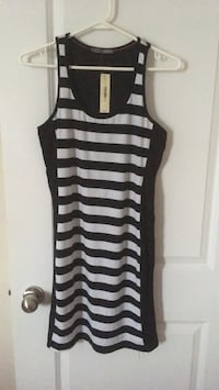 black and white stripe sleeveless dress Toronto, M4A