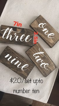 Wedding / event Wood Table Numbers 1-10 New Tecumseth, L0G