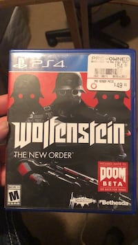 Wolfenstein The New Order PS4 game case Vancleave, 39565