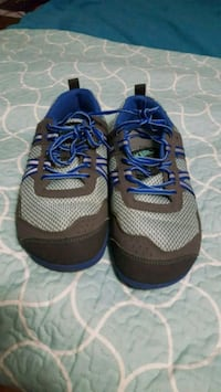 pair of gray-and-blue running shoes West Valley City, 84119