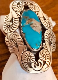 """""""Old Pawn"""" Navajo made LARGE Sterling Silver/Turquoise r Frederick, 21701"""