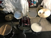 black and gray drum set Montréal, H1S 1N8