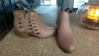 Pink ankle boots size 6