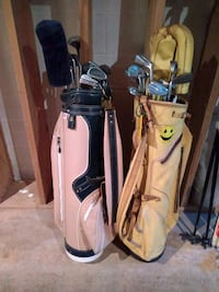 two white and black golf bags Marietta, 30066