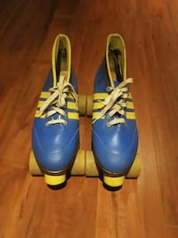 pair of blue-and-yellow roller skates Montréal, H2E 2M5