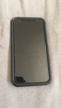 Space gray iphone x with black rear case