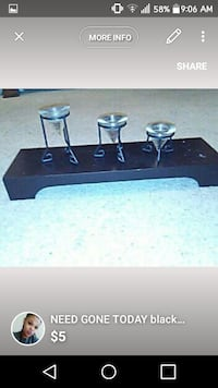 three set black candle holders Waco, 76706