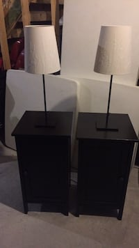 Nightstands with lamps