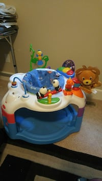 baby's white and blue play activity center Mission, V2V 7P9