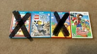 Three assorted nintendo wii game cases Great Falls, 59405