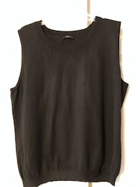 Talbots Women's Size 2X (NO SIZE TAG) Black Knit Sleeveless Shell Top Baltimore, 21236