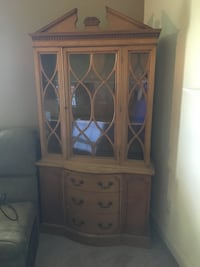 Brown wooden framed glass display cabinet Cicero, 13039