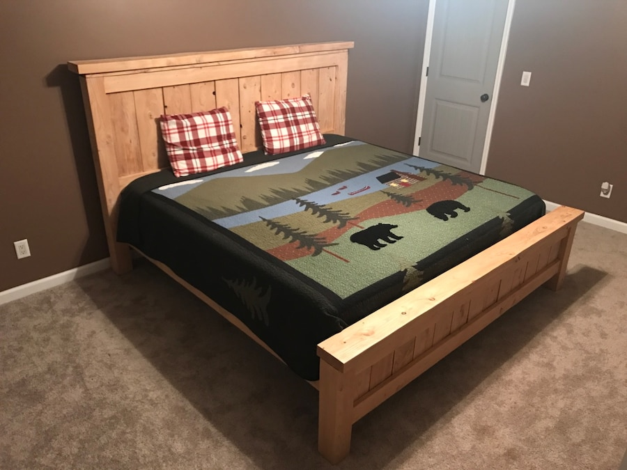 Custom rustic queen bed frame in pine bush letgo - Adirondack bed frame ...
