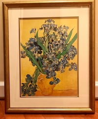 Van Gogh framed and matted print.