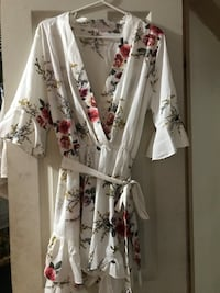 White and floral romper Maywood, 90270