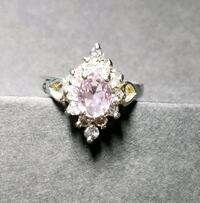Sterling silver crystal ring size 9 Albuquerque, 87109