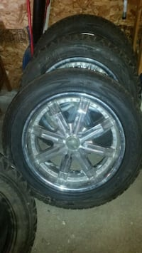 4 Goodyear wrangler tires and rims Edmonton, T5P 2R2