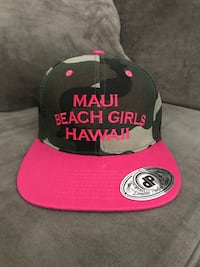 Hot pink and camouflage women's baseball cap San Diego, 92128