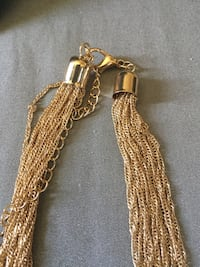 """24 layered chain necklace 16-18"""".m."""
