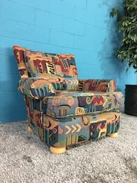***bauhaus multi-color fabric sofa chair (free delivery)