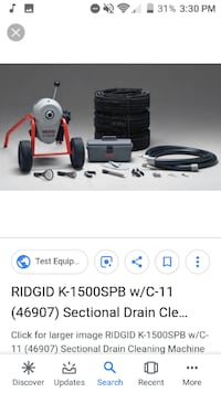 Drain and sewer cleaning machine Springfield