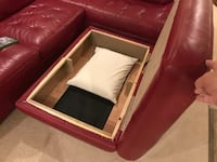 Red Leather Sectional   All Leather Gainesville, 20155