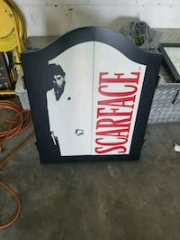 black and white Scarface wooden cabinet dartboard Ocala, 34471