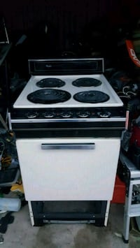 white and black 4-coil electric range oven Laurel, 20708