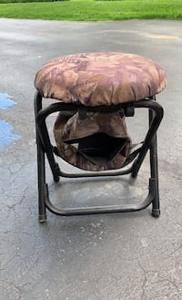 Ground blind and swivel stool