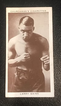 1938 Churchmans boxing card Larry Gains Cottonwood, 96022