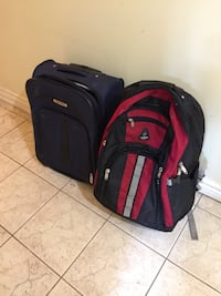How lightweight carry-on and a knapsack with the wheel you can pull it Mississauga, L5B