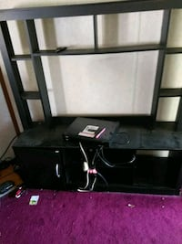 black wooden TV stand with mount Anderson County