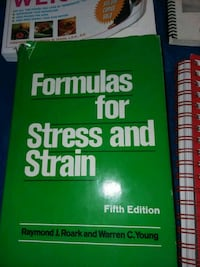 Formulas for Stress and Strain 5th edition book by Roark and Young Shafter, 93263