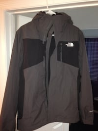 Black and gray the north face full zipped hoodie Woodbridge
