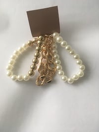 Silver and white pearl necklace 3 pic together  Markham, L3T 1K5