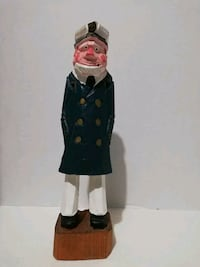 "8"" Wooden Carved Painted Fishing Sailor Sailing Captain Wood  Lorton, 22079"