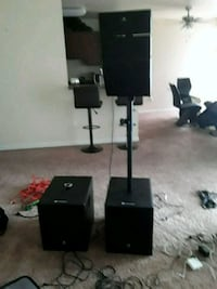 black and gray home theater system 52 km