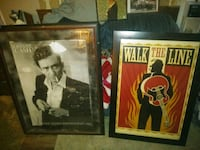 Johnny Cash and Walk the Line posters with black wooden frames Petersburg, 37144