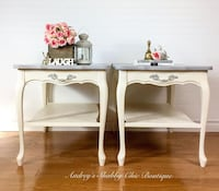 Luxurious French Provincial Accent/End/Side/Tables/Nightstands Richmond Hill