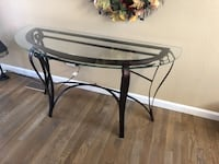 Amazing glass and metal table Greeley