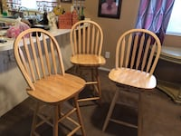 3 wooden chairs Apache Junction, 85119